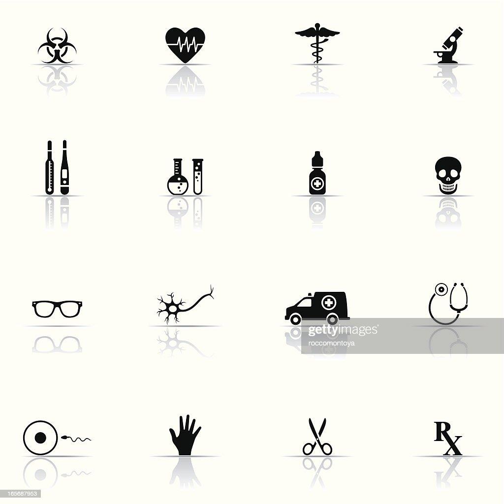 Icon set, Medicine and Science