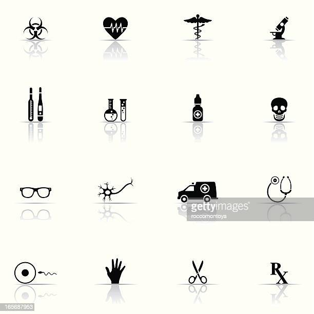 icon set, medicine and science - artificial insemination stock illustrations