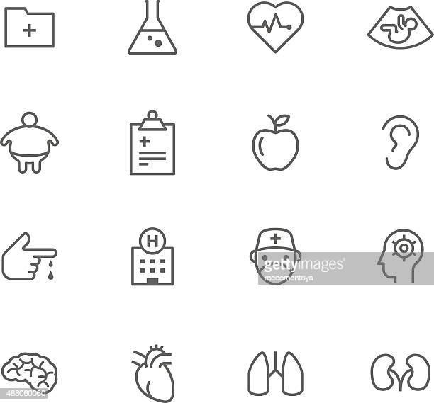 icon set, medicine - ear stock illustrations, clip art, cartoons, & icons