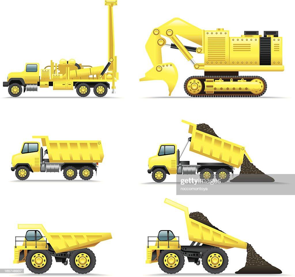 Icon Set, Minning trucks