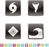 Icon set natural disaster
