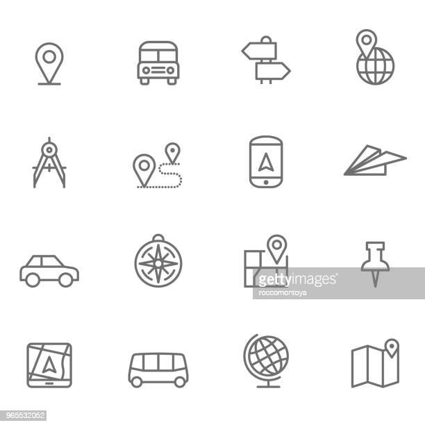 アイコン設定、ナビゲーション - イラスト - トレイル表示点のイラスト素材/クリップアート素材/マンガ素材/アイコン素材