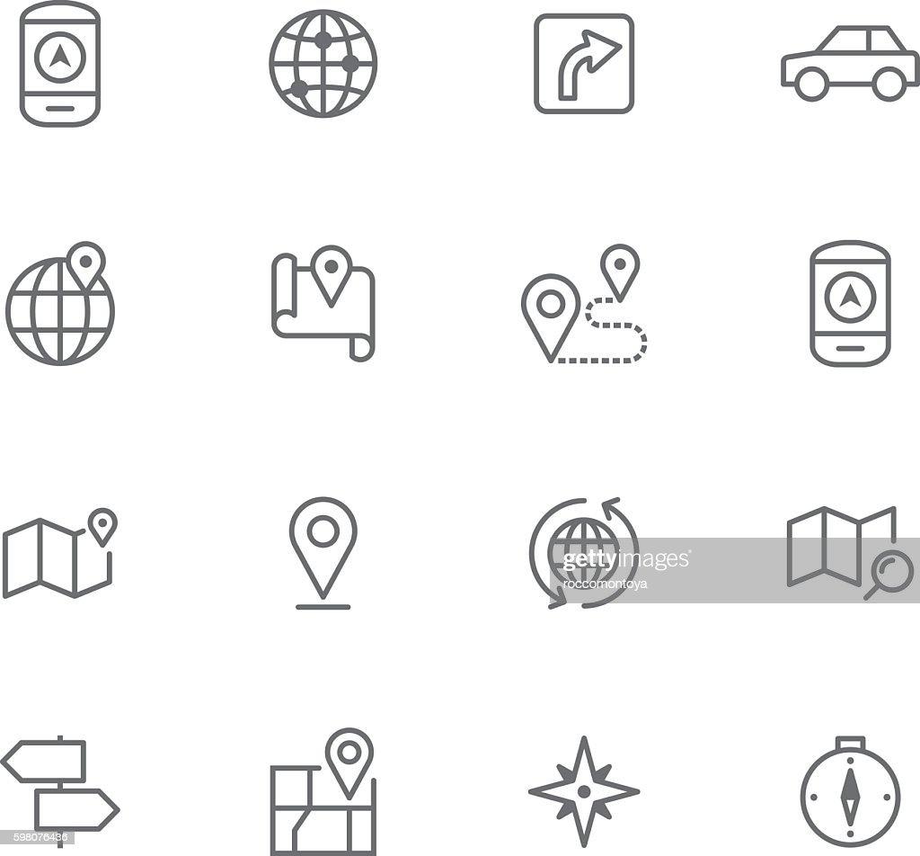 Icon Set, Navigation : Ilustración de stock