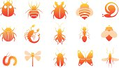 icon set of insects