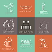 Icon set  of parties