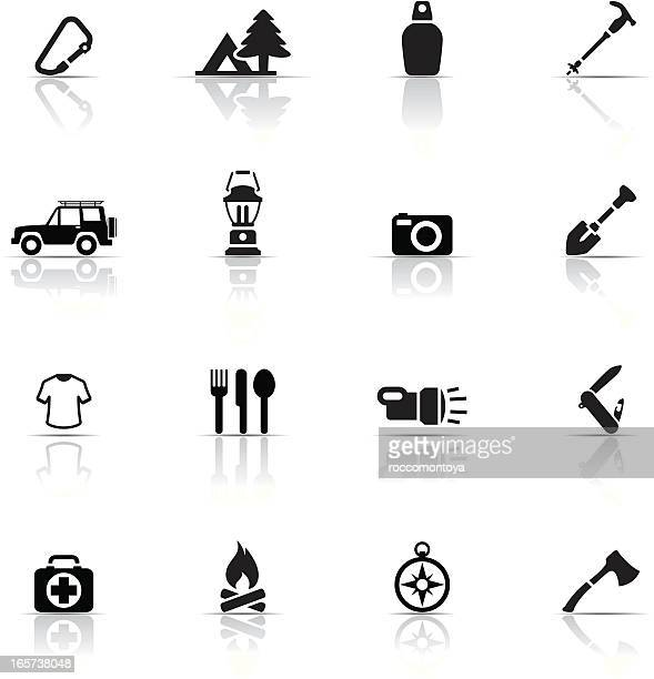 Icon set, Outdoor and Camping