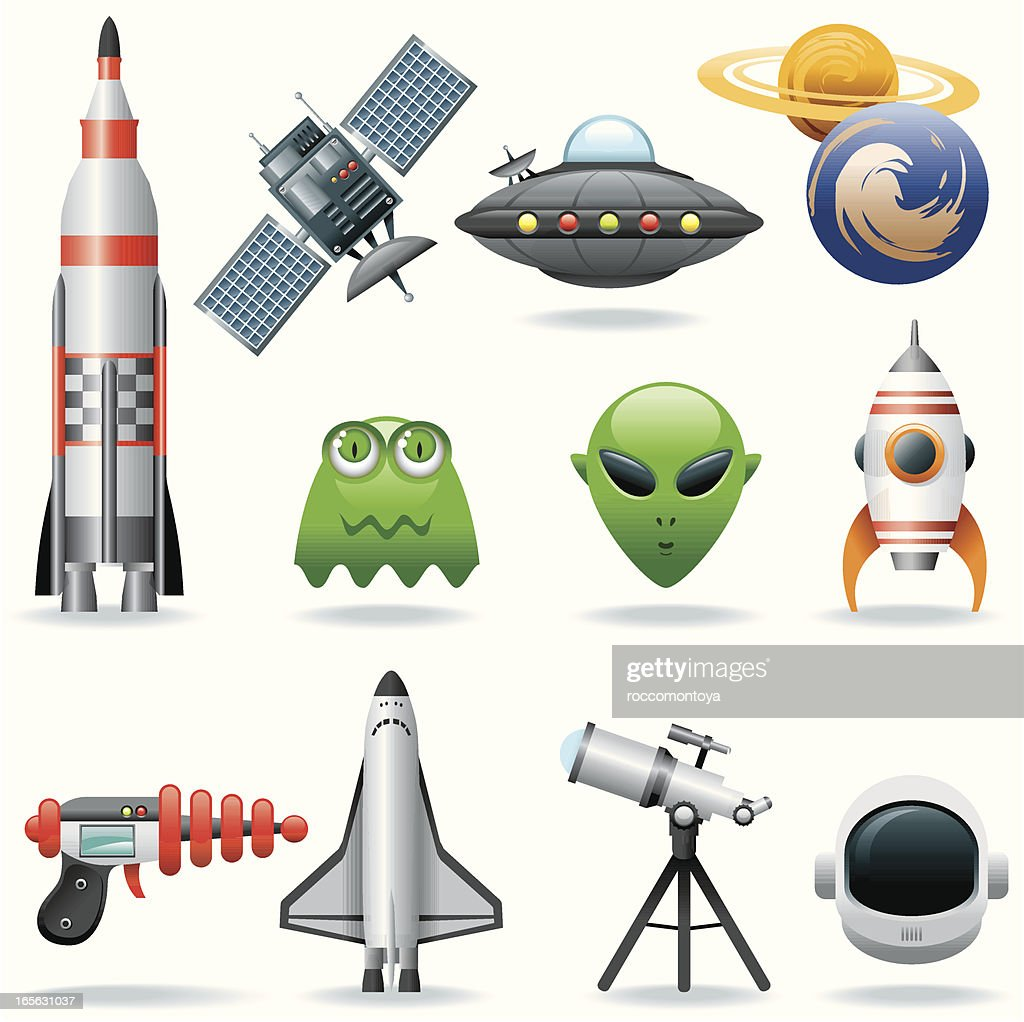 Icon Set, Ovnis and Space