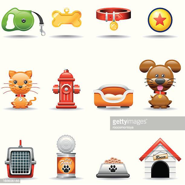 icon set, pets - dog bowl stock illustrations, clip art, cartoons, & icons