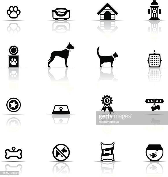 icon set, pets - dog leash stock illustrations, clip art, cartoons, & icons