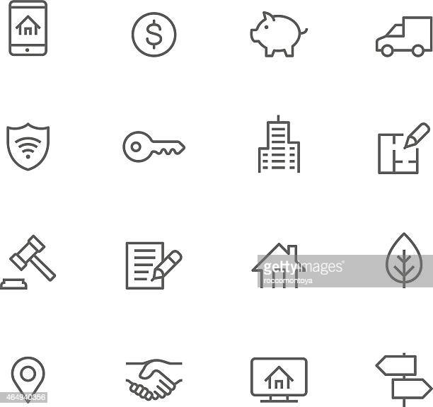 Icon Set, Real Estate
