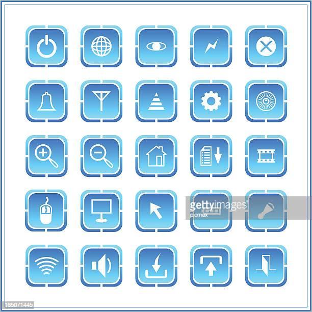 Icon set - round square series