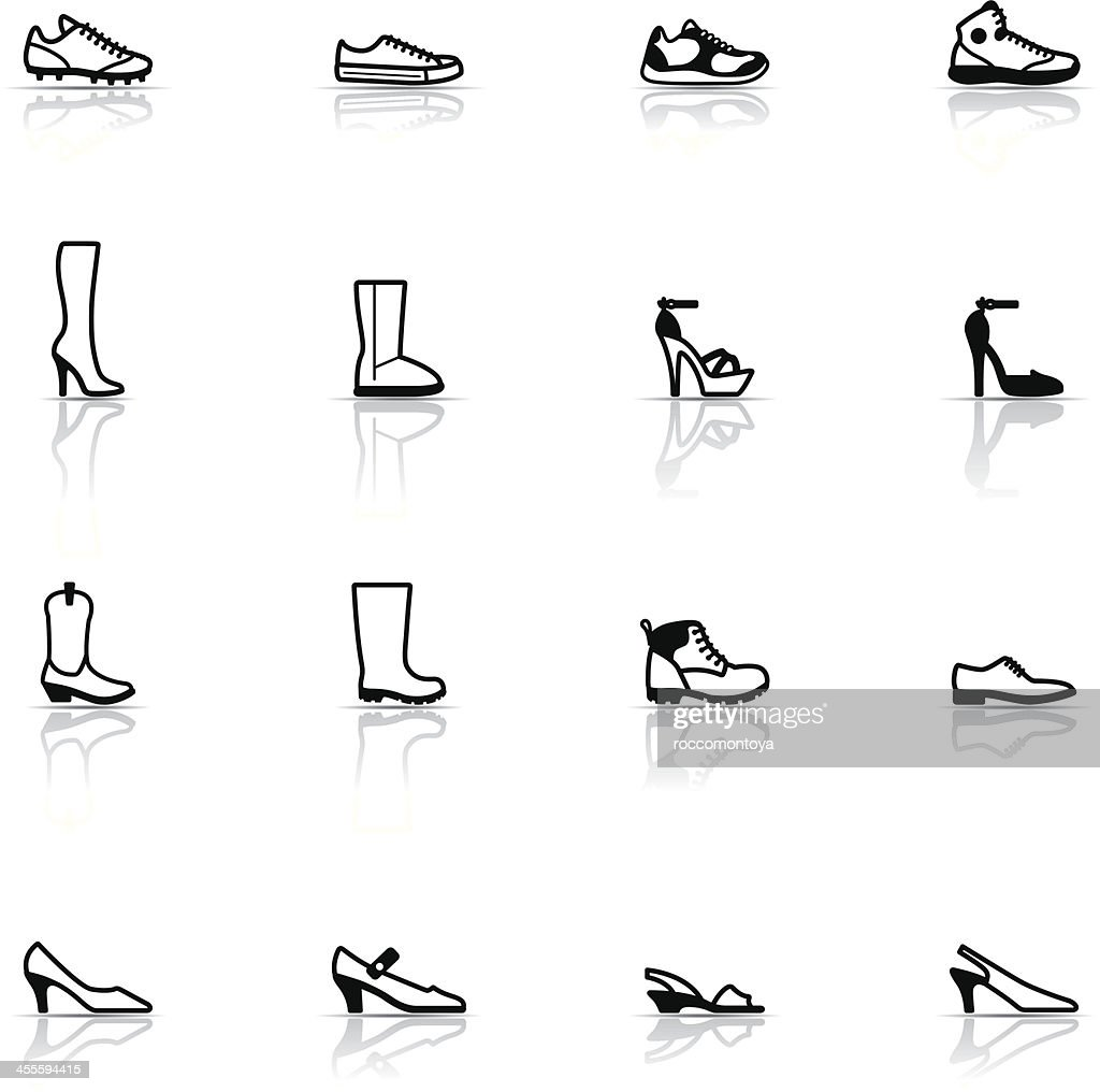 Icon Set, Shoes : stock illustration