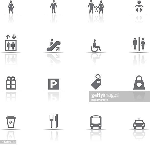 icon set, shopping - elevator stock illustrations, clip art, cartoons, & icons