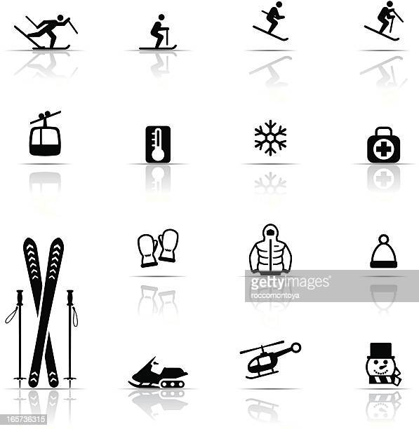 Icon Set, Skiing