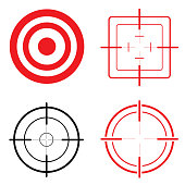 Icon set target and look. Ideal for training and institutional materials