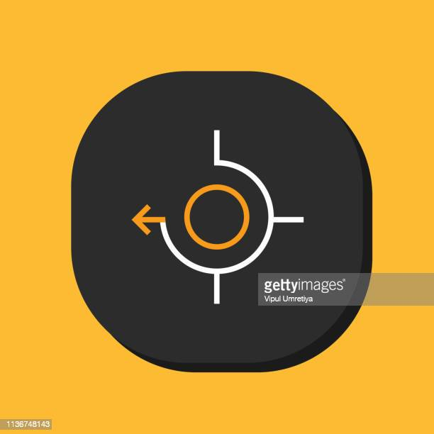 icon set target and look. - sniper stock illustrations, clip art, cartoons, & icons