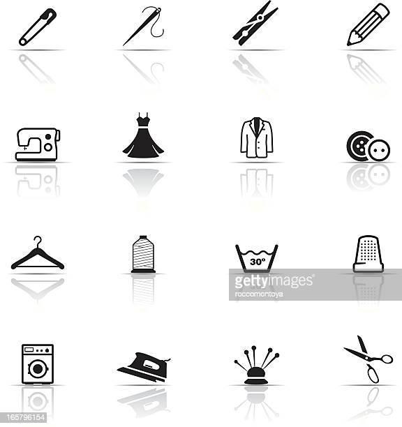 Conjunto de ícones de Indústria Têxtil