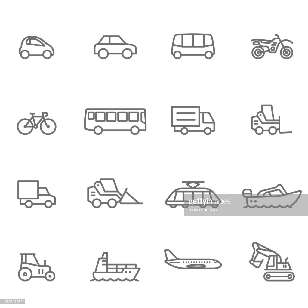 Icon Set, transport - illustratie : Stockillustraties