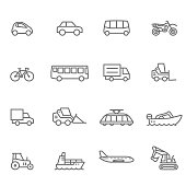 Icon Set, Transportation - Illustration