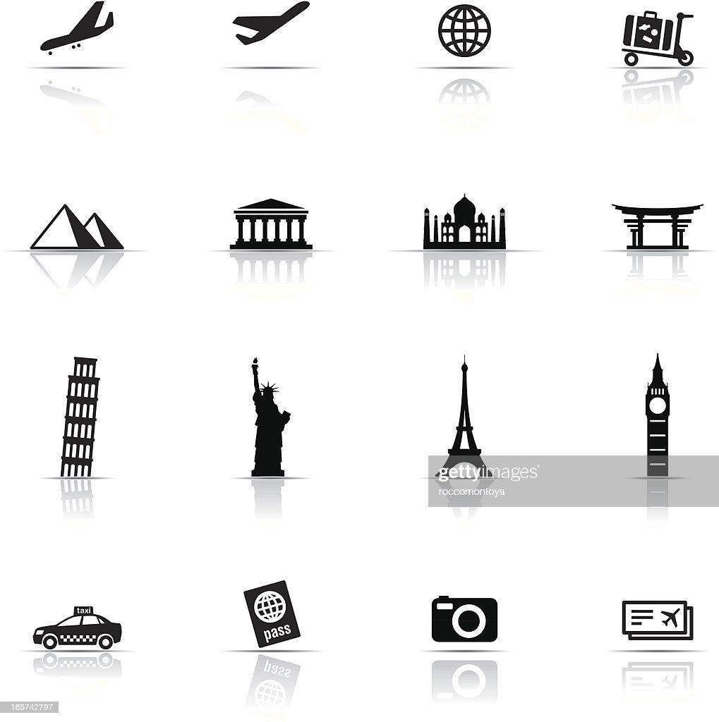 Icon Set, Travel items : stock illustration