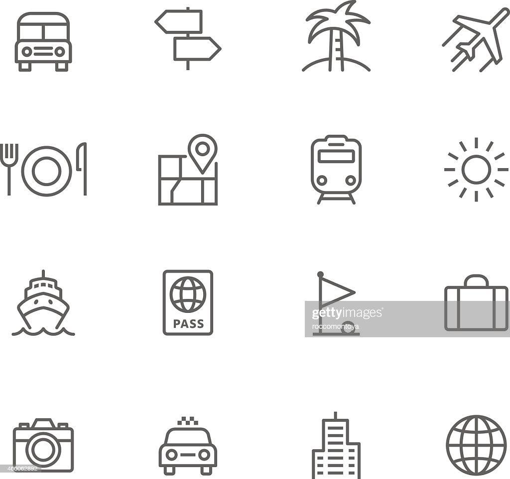 Icon Set, Travel : Stock Illustration