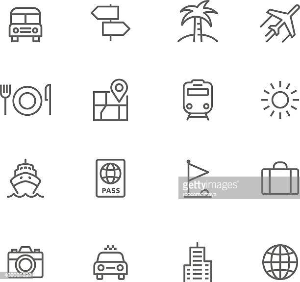 icon set, travel - taxi stock illustrations, clip art, cartoons, & icons
