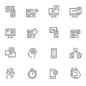 Icon Set UI/UX Icons - Illustration