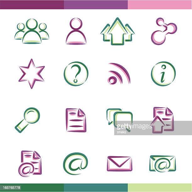 ilustraciones, imágenes clip art, dibujos animados e iconos de stock de grupo de iconos - tarjeta de archivo