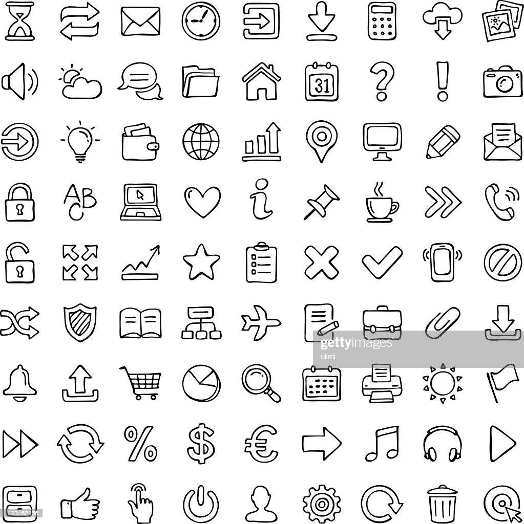 Icon set. : Stock-Illustration