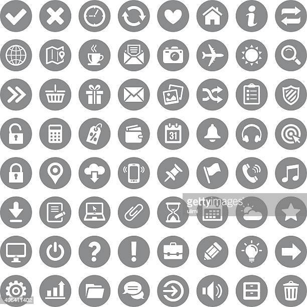 icon set - simplicity stock illustrations
