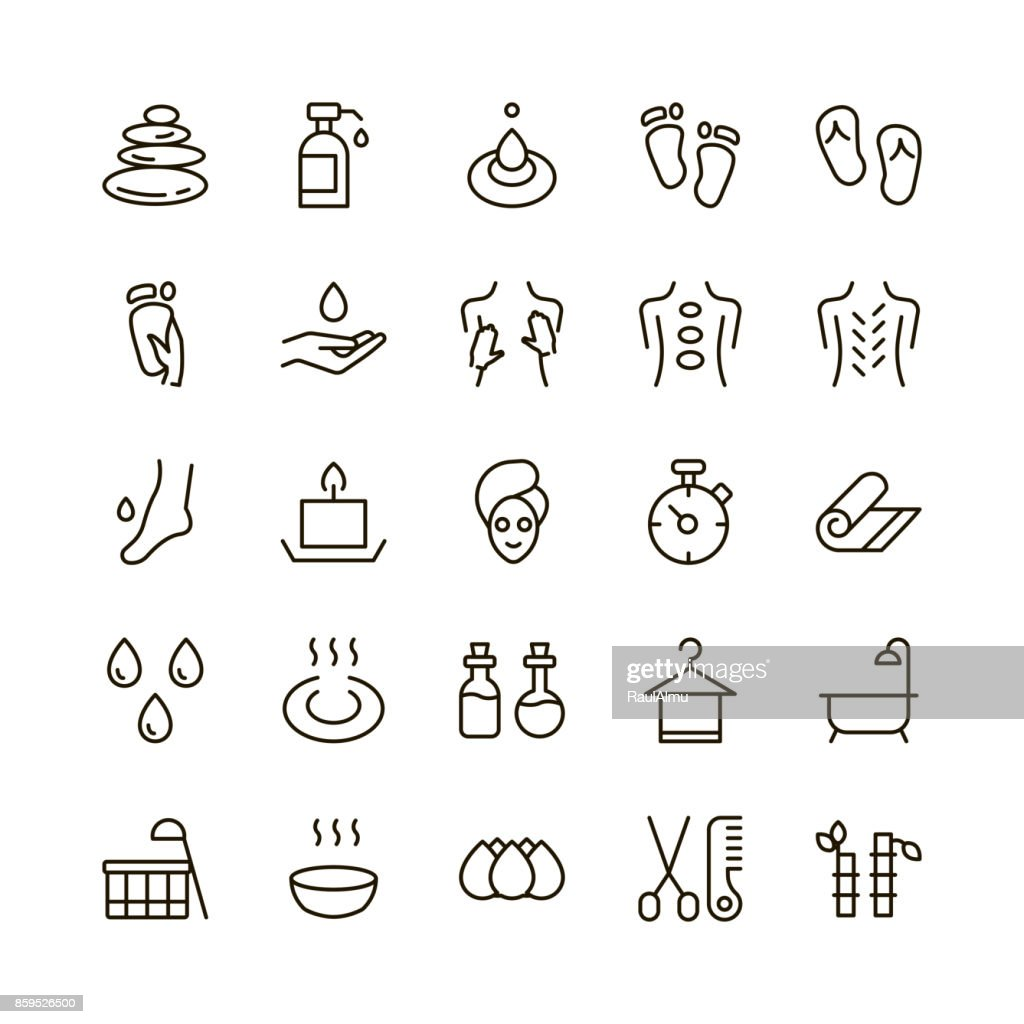 SPA icon set.