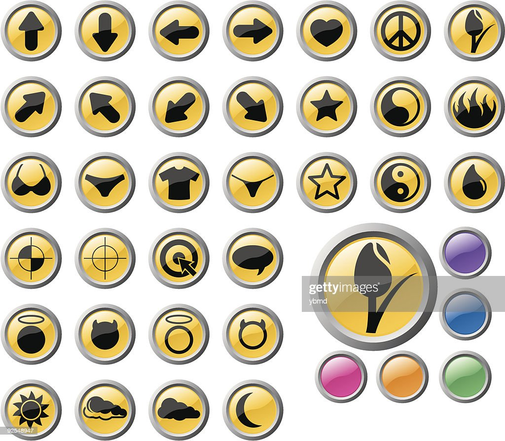 Icon Set (vector and raster)