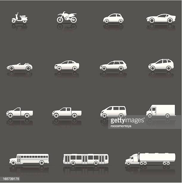 icon set, vehicles and cars - hatchback stock illustrations, clip art, cartoons, & icons