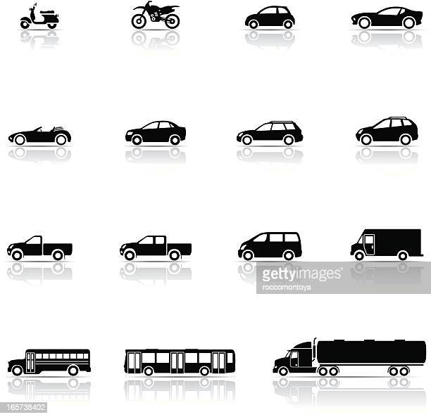 icon set, vehicles - suv stock illustrations, clip art, cartoons, & icons
