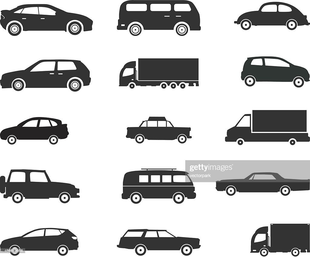 Icon set, Vehicles -  Vector Illustration