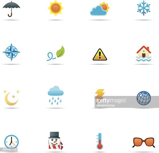 Icon set, Weather Color
