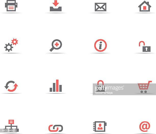 icon set, web buttons - unlocking stock illustrations