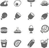 Icon set - Western Food