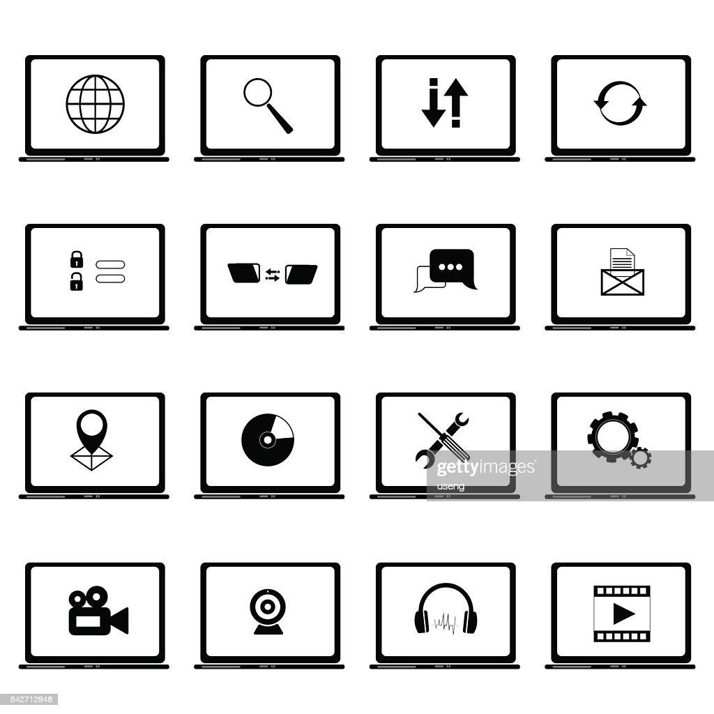 icon set,computer
