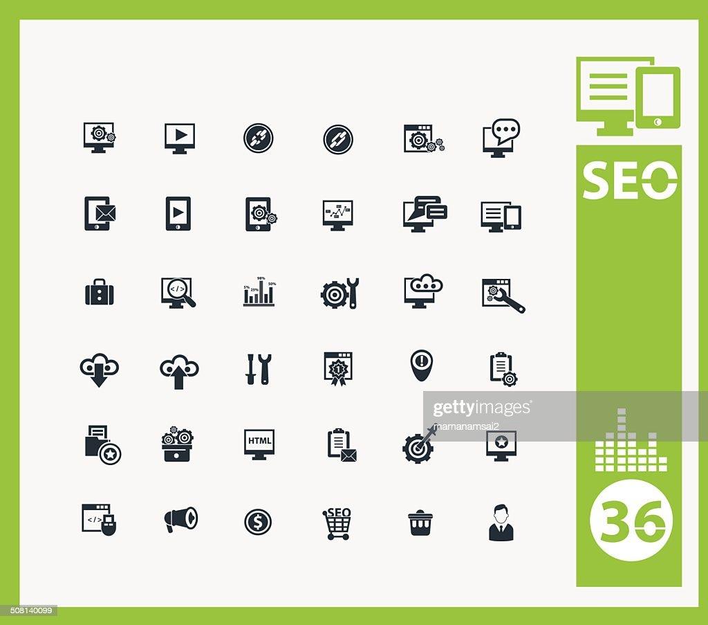 SEO icon set,vector