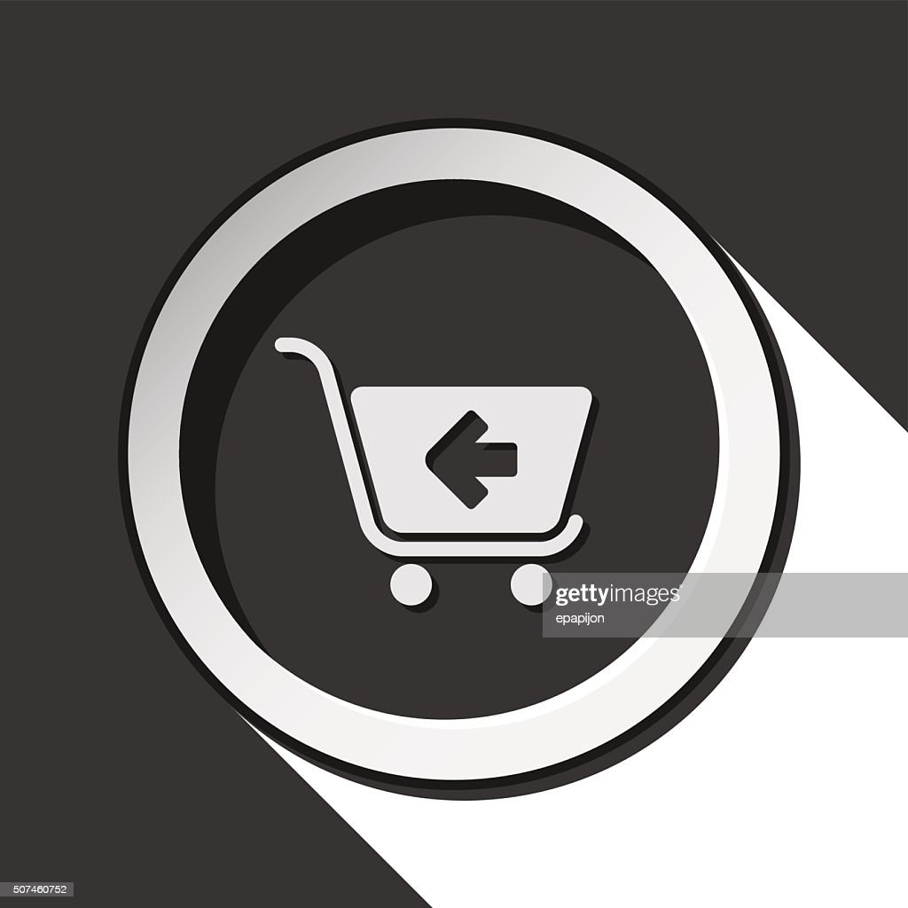 icon - shopping cart back with shadow
