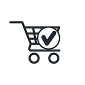 icon shopping cart chek