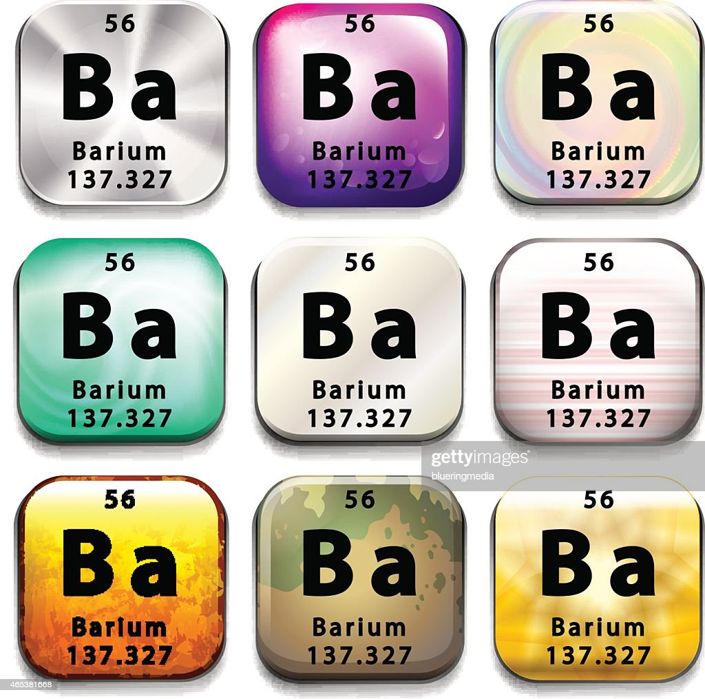 Icon showing the chemical Barium