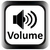 Icon square black volume