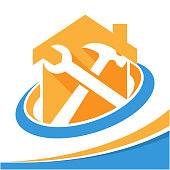 icon symbol for the business of repair, renovation, home care services