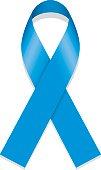 Icon symbol of struggle and awareness, blue ribbon