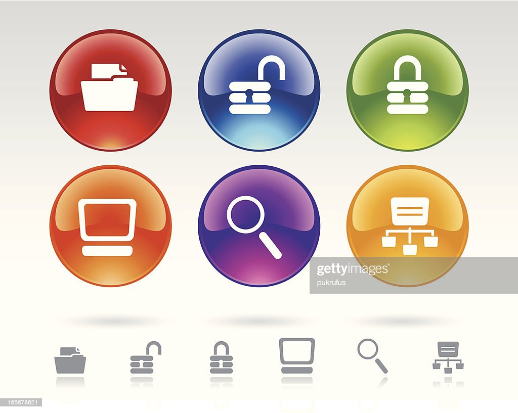 Icon Symbols For Network Managers Vector Art Getty Images