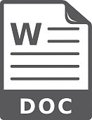 BW icon - Text file format