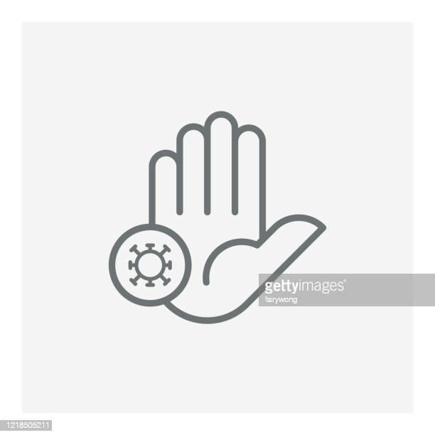 stop covid-19 icon - prevention stock illustrations