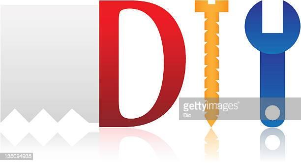 diy icon - serrated stock illustrations, clip art, cartoons, & icons